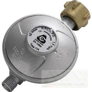 gas druckminderer 50 mbar mit 1 4 links anschlu