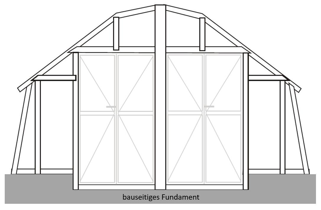verlängerte Tür für unsere Gewächshäuser